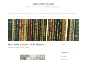 Shakespeare Answers Header Image