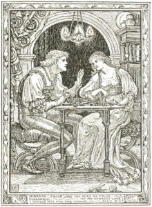 Miranda and Ferdinand play chess